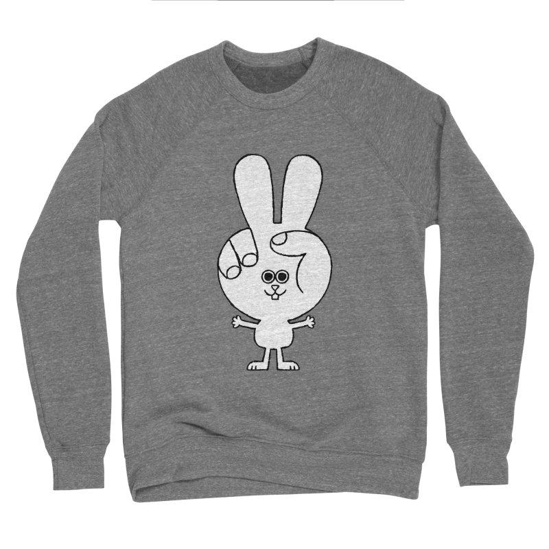 Peace Bunny Women's Sponge Fleece Sweatshirt by Mauro Gatti House of Fun