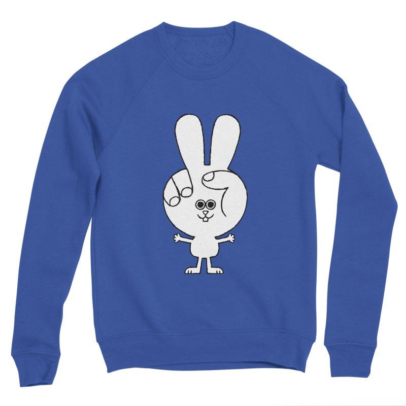 Peace Bunny Men's Sponge Fleece Sweatshirt by Mauro Gatti House of Fun