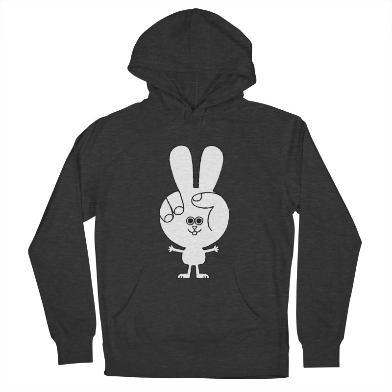 Peace Bunny Women's French Terry Pullover Hoody by Mauro Gatti House of Fun