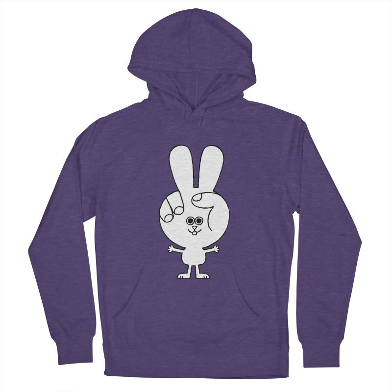 Peace Bunny Men's French Terry Pullover Hoody by Mauro Gatti House of Fun