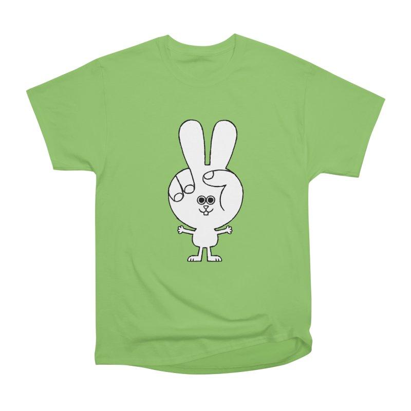 Peace Bunny Men's Heavyweight T-Shirt by Mauro Gatti House of Fun