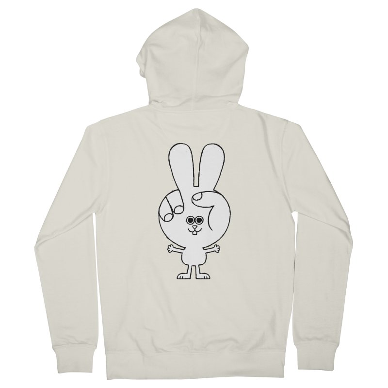 Peace Bunny Women's French Terry Zip-Up Hoody by Mauro Gatti House of Fun