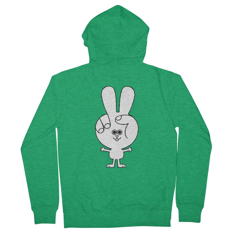 Peace Bunny Men's Zip-Up Hoody by Mauro Gatti House of Fun