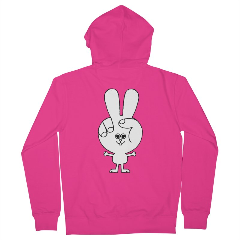 Peace Bunny Men's French Terry Zip-Up Hoody by Mauro Gatti House of Fun