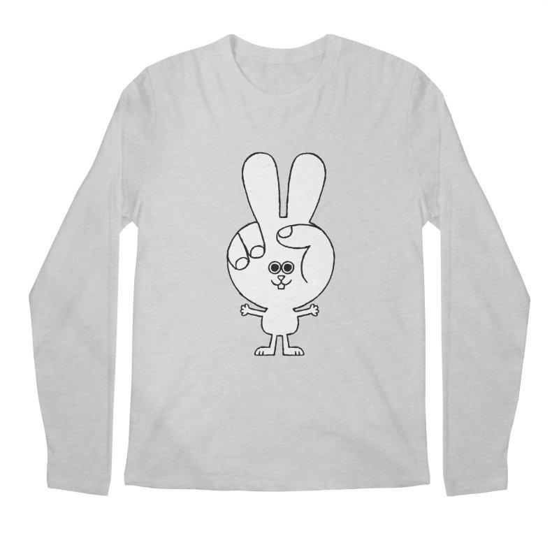 Peace Bunny Men's Regular Longsleeve T-Shirt by Mauro Gatti House of Fun