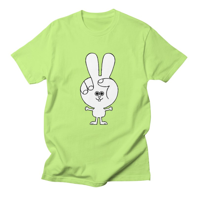 Peace Bunny Men's T-Shirt by Mauro Gatti House of Fun