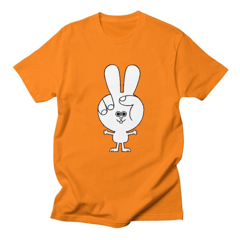 Peace Bunny Women's Regular Unisex T-Shirt by Mauro Gatti House of Fun