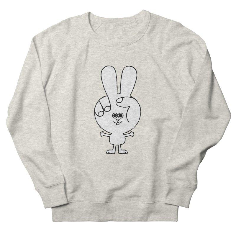 Peace Bunny Women's French Terry Sweatshirt by Mauro Gatti House of Fun