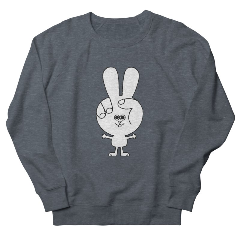 Peace Bunny Men's French Terry Sweatshirt by Mauro Gatti House of Fun