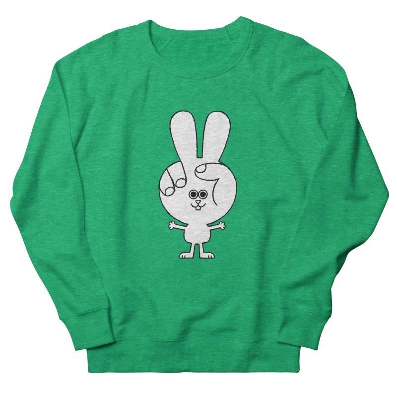 Peace Bunny Men's French Terry Sweatshirt by Mauro Gatti House of Fun