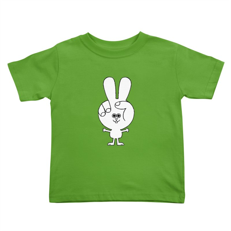 Peace Bunny Kids Toddler T-Shirt by Mauro Gatti House of Fun