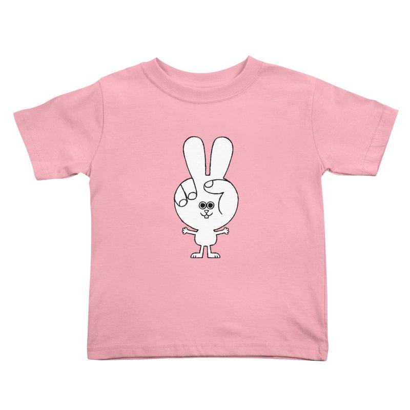 Peace Bunny Kids Toddler T-Shirt by Mauro Gatti House of Fun