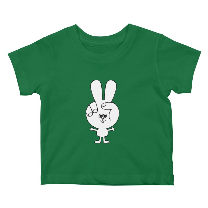 Peace Bunny Kids Baby T-Shirt by Mauro Gatti House of Fun
