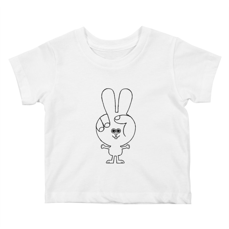 Peace Bunny Kids Baby T-Shirt by Mauro Gatti House of Fun