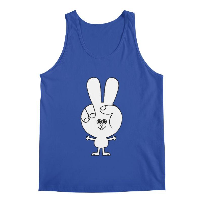 Peace Bunny Men's Regular Tank by Mauro Gatti House of Fun