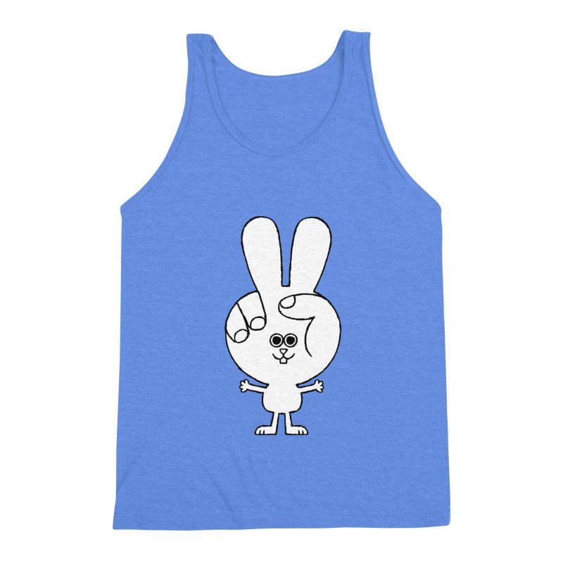 Peace Bunny Men's Triblend Tank by Mauro Gatti House of Fun