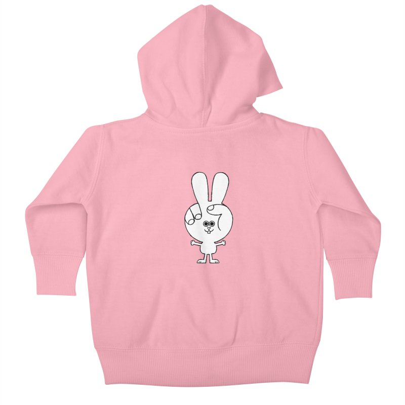 Peace Bunny Kids Baby Zip-Up Hoody by Mauro Gatti House of Fun