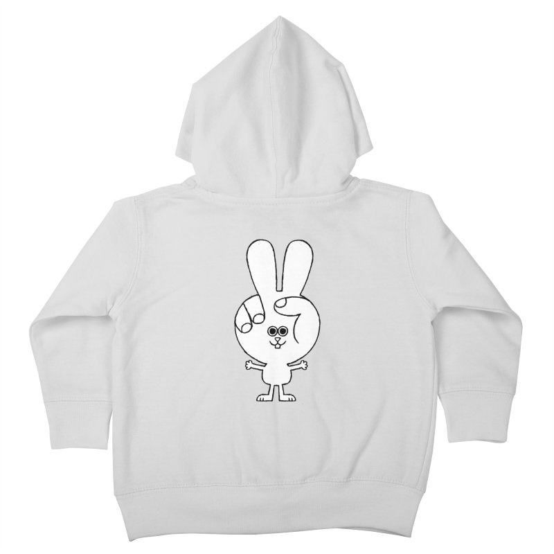 Peace Bunny Kids Toddler Zip-Up Hoody by Mauro Gatti House of Fun
