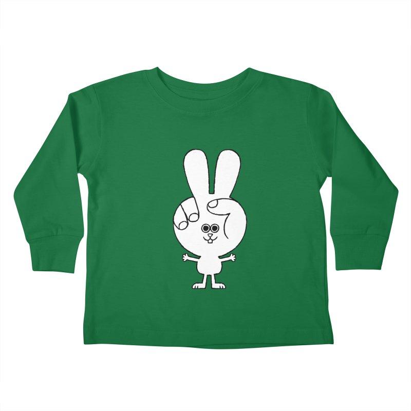 Peace Bunny Kids Toddler Longsleeve T-Shirt by Mauro Gatti House of Fun