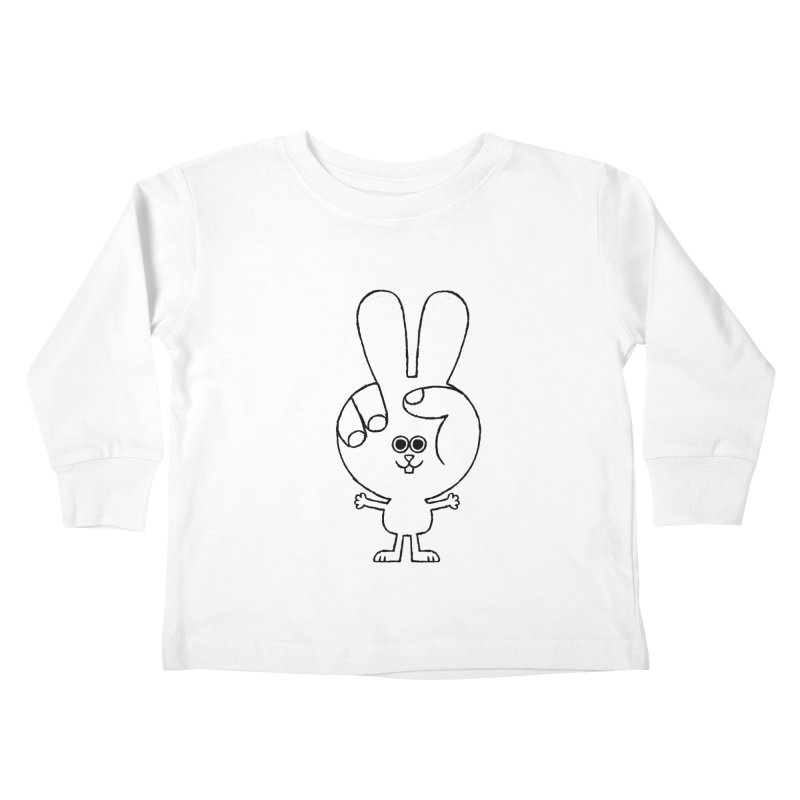 Peace Bunny Kids Toddler Longsleeve T-Shirt by Mauro Gatti House of Fun