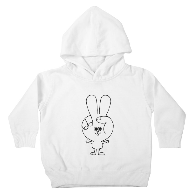 Peace Bunny Kids Toddler Pullover Hoody by Mauro Gatti House of Fun