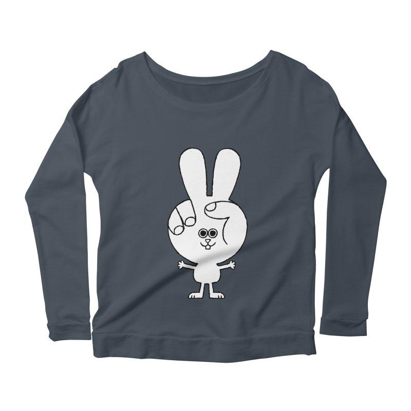 Peace Bunny Women's Scoop Neck Longsleeve T-Shirt by Mauro Gatti House of Fun