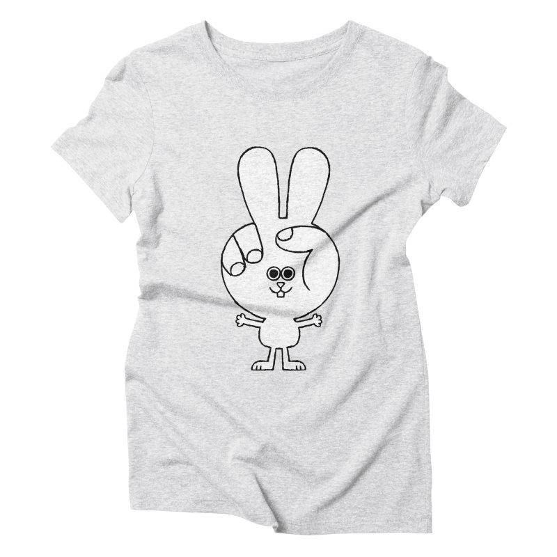 Peace Bunny Women's Triblend T-Shirt by Mauro Gatti House of Fun