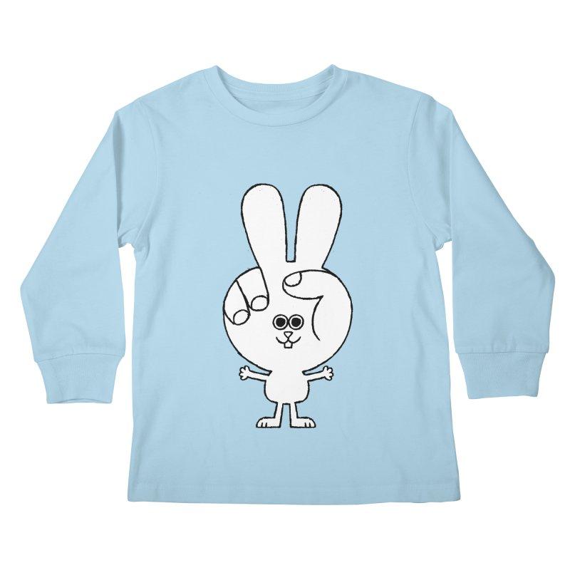 Peace Bunny Kids Longsleeve T-Shirt by Mauro Gatti House of Fun