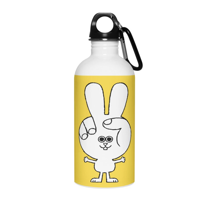 Peace Bunny Accessories Water Bottle by Mauro Gatti House of Fun