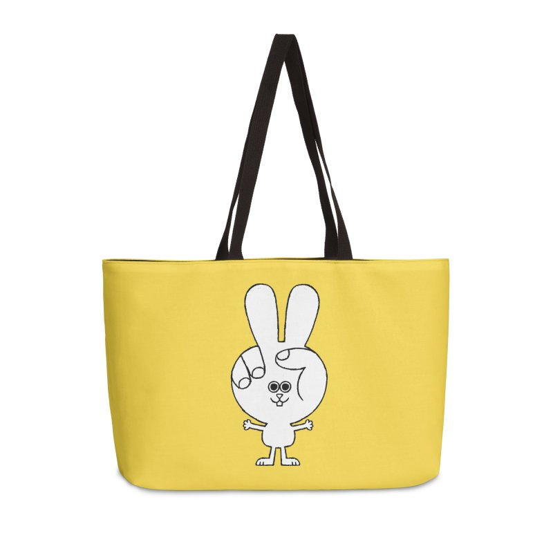 Peace Bunny Accessories Weekender Bag Bag by Mauro Gatti House of Fun