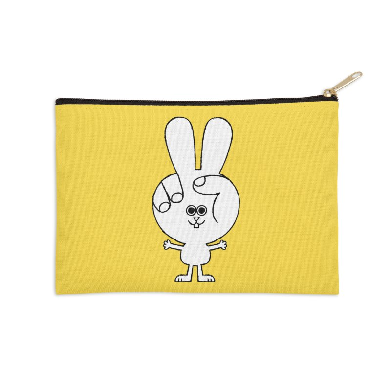 Peace Bunny Accessories Zip Pouch by Mauro Gatti House of Fun