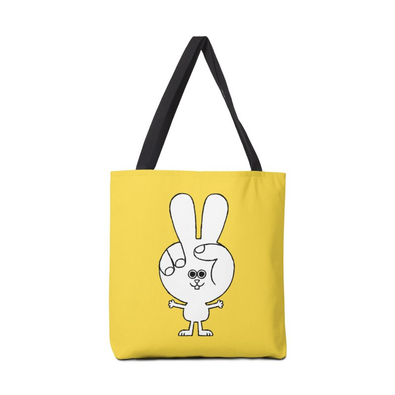 Peace Bunny Accessories Tote Bag Bag by Mauro Gatti House of Fun