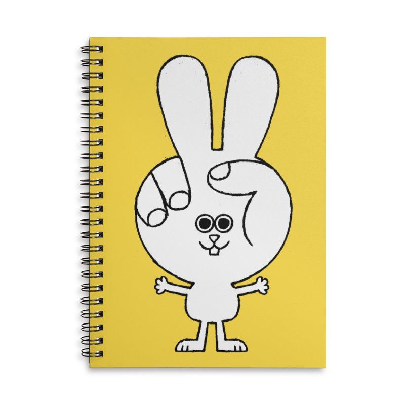 Peace Bunny Accessories Lined Spiral Notebook by Mauro Gatti House of Fun