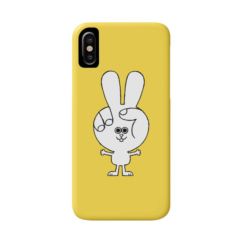 Peace Bunny in iPhone X / XS Phone Case Slim by Mauro Gatti House of Fun