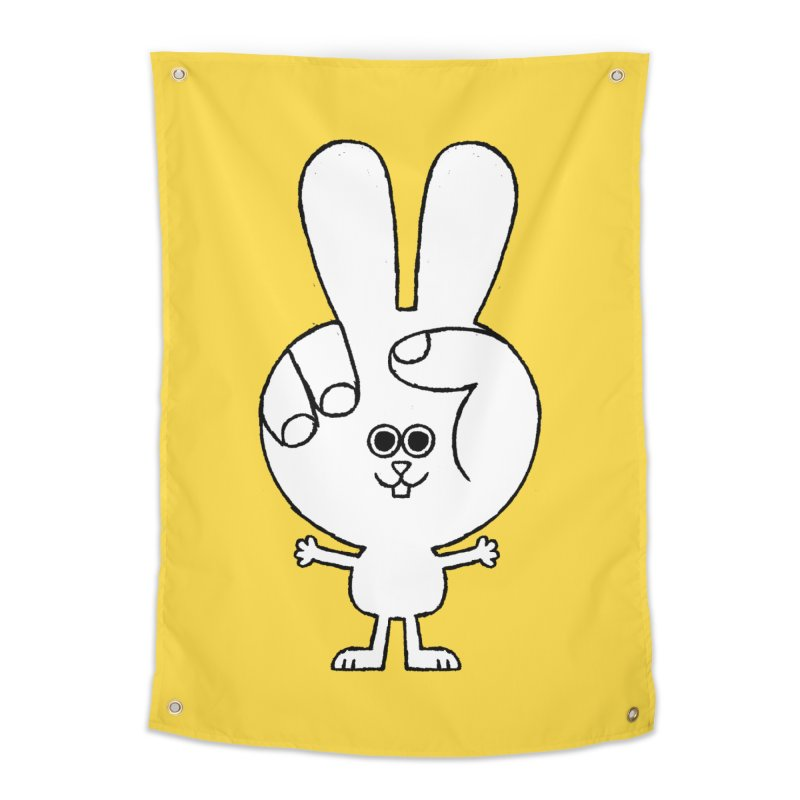Peace Bunny Home Tapestry by Mauro Gatti House of Fun
