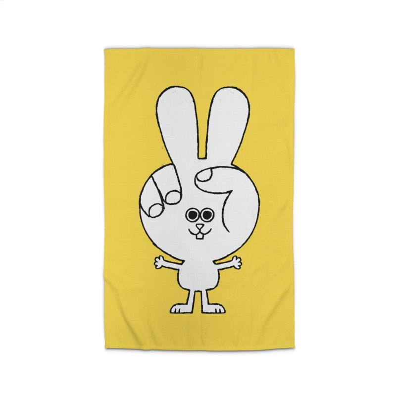 Peace Bunny Home Rug by Mauro Gatti House of Fun