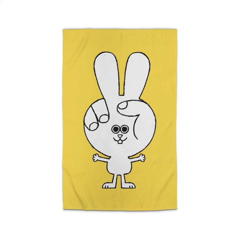 Peace Bunny Home Rug by Mauro Gatti House of Fun