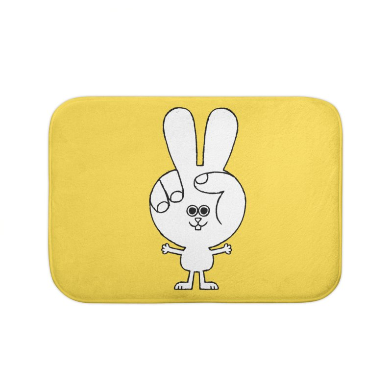 Peace Bunny Home Bath Mat by Mauro Gatti House of Fun