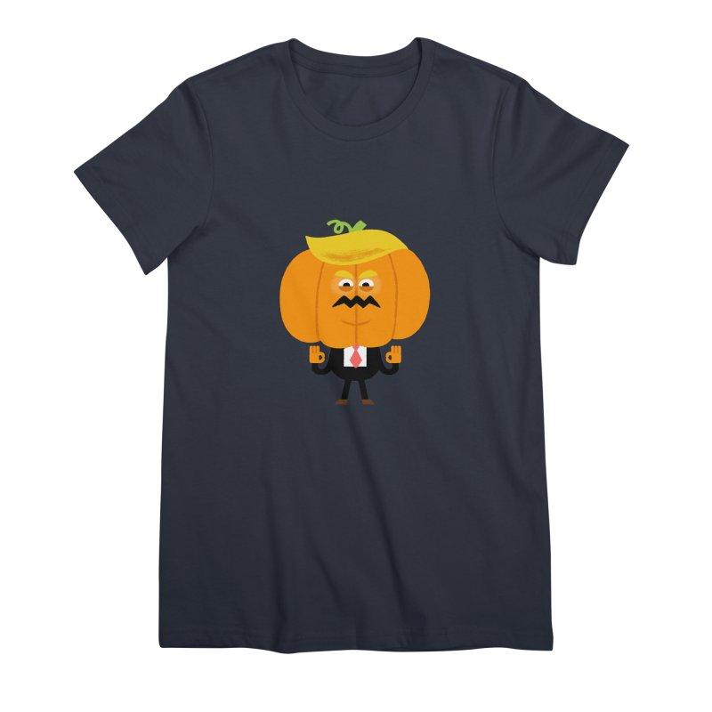 Trumpkin Women's Premium T-Shirt by Mauro Gatti House of Fun