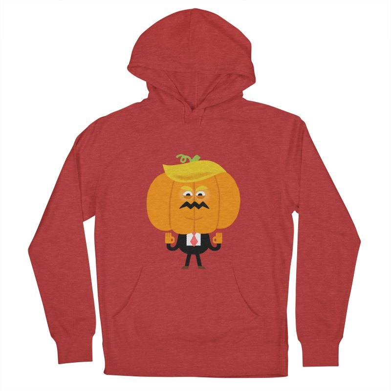Trumpkin Women's French Terry Pullover Hoody by Mauro Gatti House of Fun
