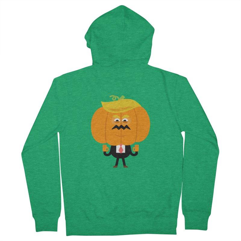 Trumpkin Men's French Terry Zip-Up Hoody by Mauro Gatti House of Fun