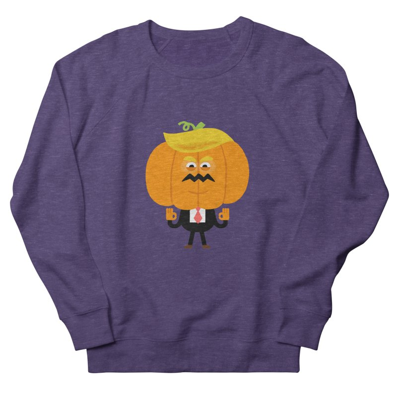 Trumpkin Women's French Terry Sweatshirt by Mauro Gatti House of Fun