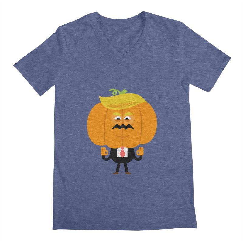 Trumpkin Men's Regular V-Neck by Mauro Gatti House of Fun