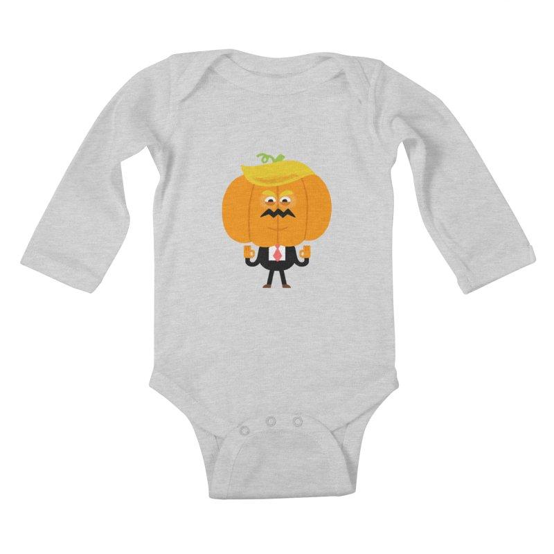 Trumpkin Kids Baby Longsleeve Bodysuit by Mauro Gatti House of Fun