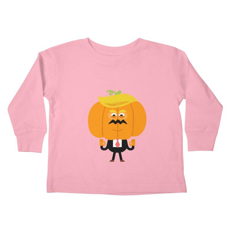 Trumpkin Kids Toddler Longsleeve T-Shirt by Mauro Gatti House of Fun