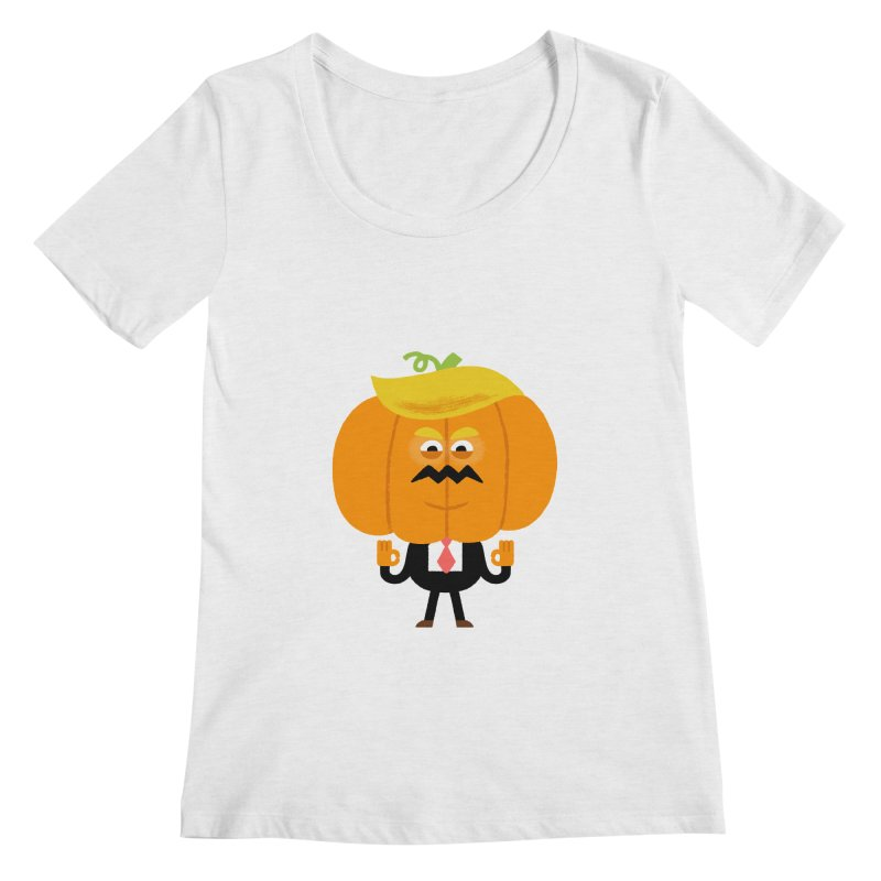 Trumpkin Women's Regular Scoop Neck by Mauro Gatti House of Fun