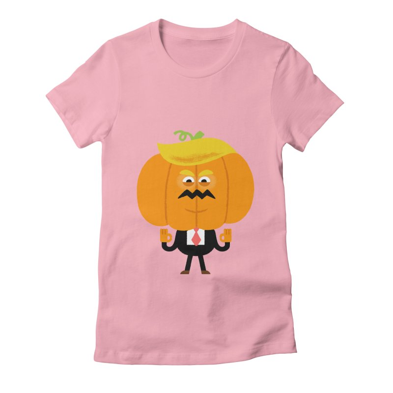 Trumpkin Women's Fitted T-Shirt by Mauro Gatti House of Fun