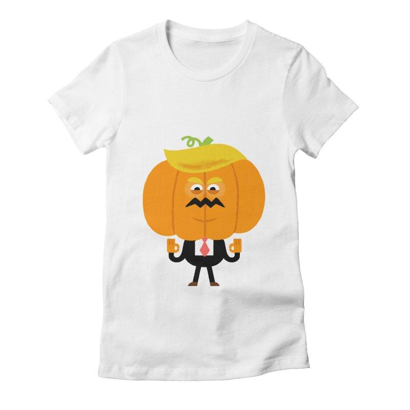 Trumpkin Women's Fitted T-Shirt by Mauro Gatti House of Fun