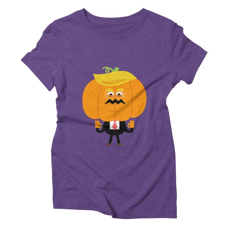 Trumpkin Women's Triblend T-Shirt by Mauro Gatti House of Fun