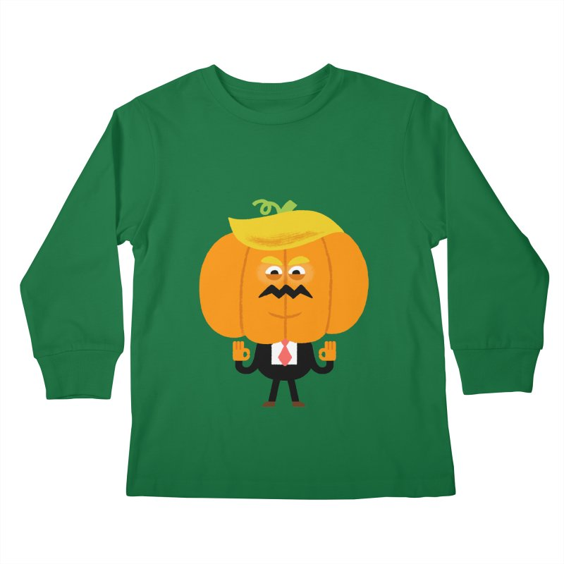 Trumpkin Kids Longsleeve T-Shirt by Mauro Gatti House of Fun
